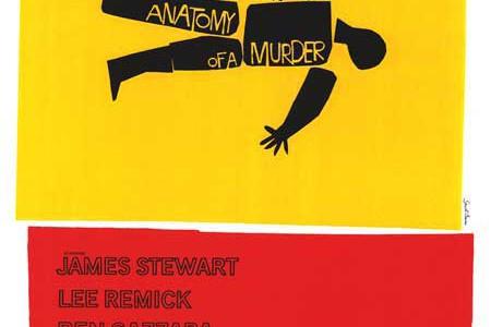 Anatomia de un asesinato, cartel de Saul Bass
