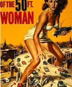 El ataque de la mujer de 50 pies, fantástico cartel