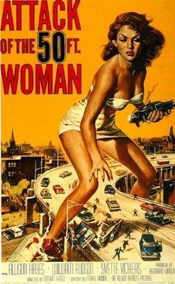 cartel El ataque de la mujer de 50 pies