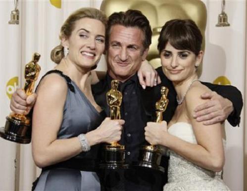 Penelope Cruz, Kate Winslet y Sean Penn
