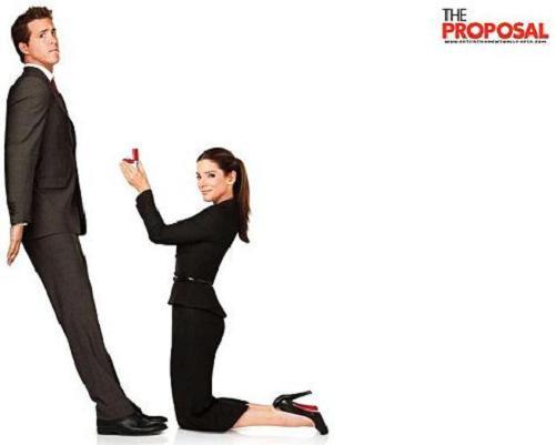 Sandra Bullock y Ryan Reynolds en La proposición