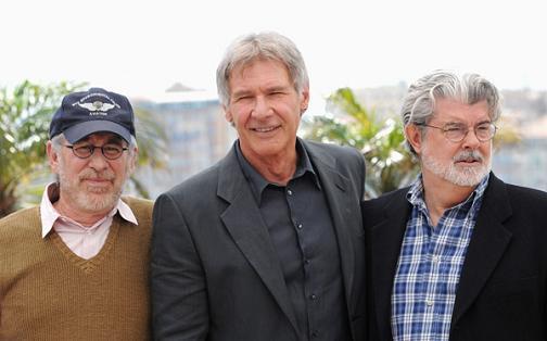 Steven Spielberg, Harrison Ford y Georges Lucas