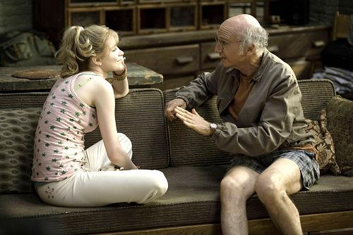 Larry David y Evan Rachel Wood
