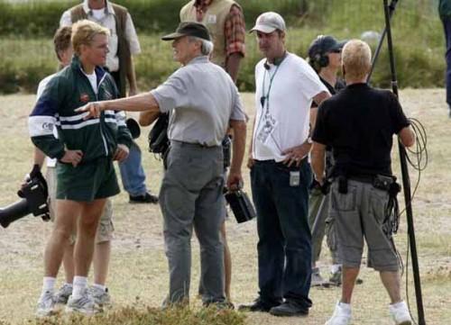 Matt Damon rodando junto a Clint Eastwood