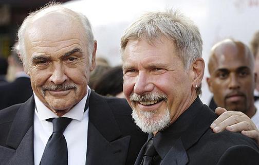 Sean Connery y Harrison Ford