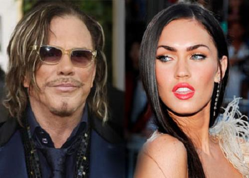 Mickey Rourke y Megan Fox