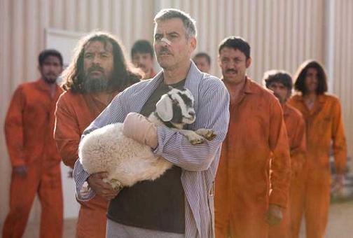 George Clooney en Los hombres que miraban fijamente a las cabras