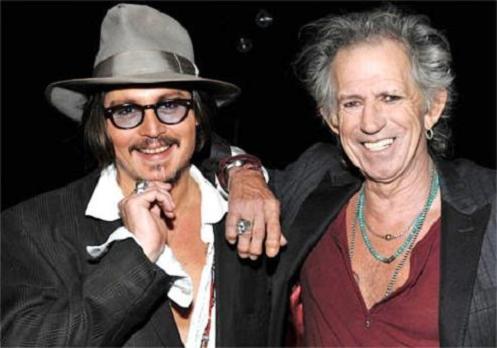 Johnny Depp y Keith Richards