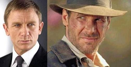 Harrison y Daniel Craig juntos