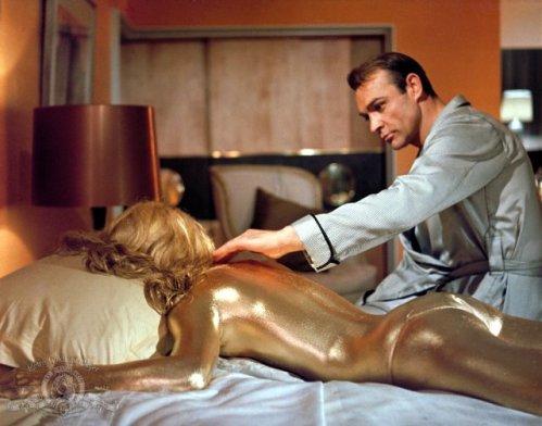 Shirley Eaton en Goldfinger
